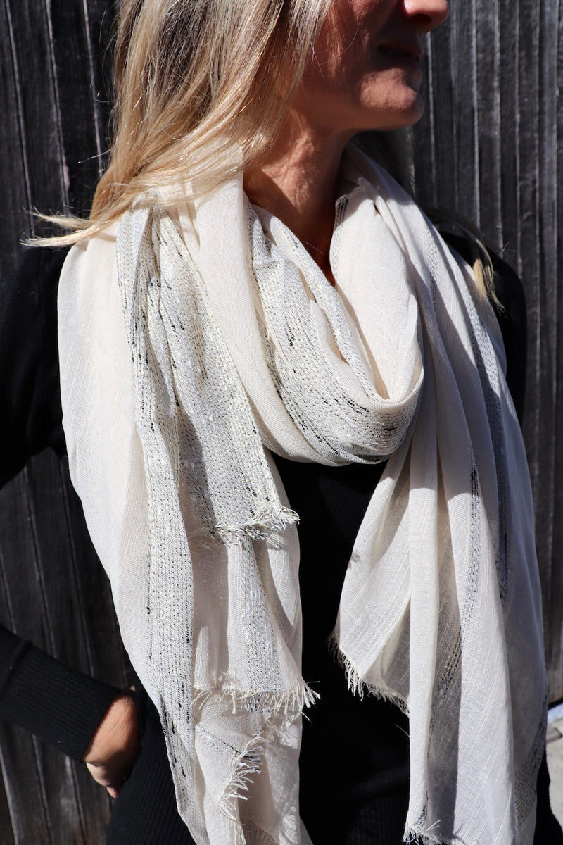 All Class Scarf in Bone