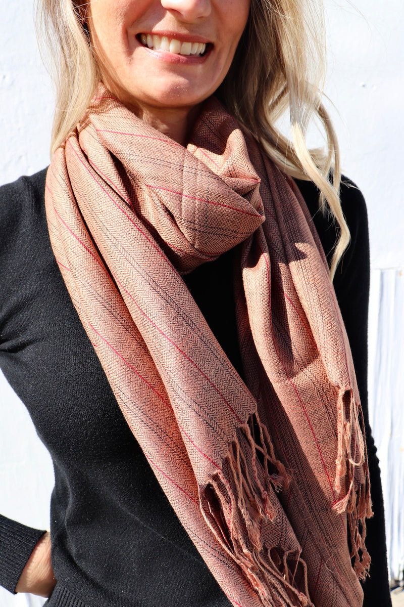 100% Pashmina Scarf In Chocolate