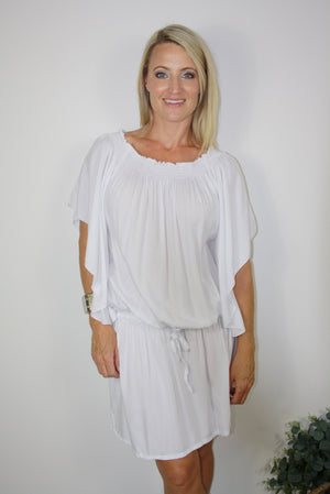 Holiday Dreaming Short Beach Dress/Top In White