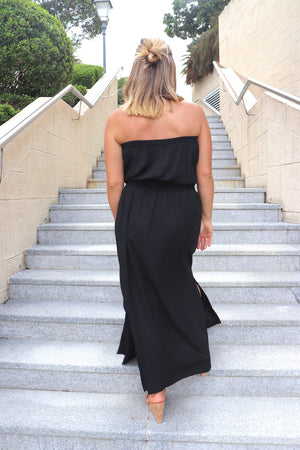 RO Daytripper Tube Maxi Dress In Black