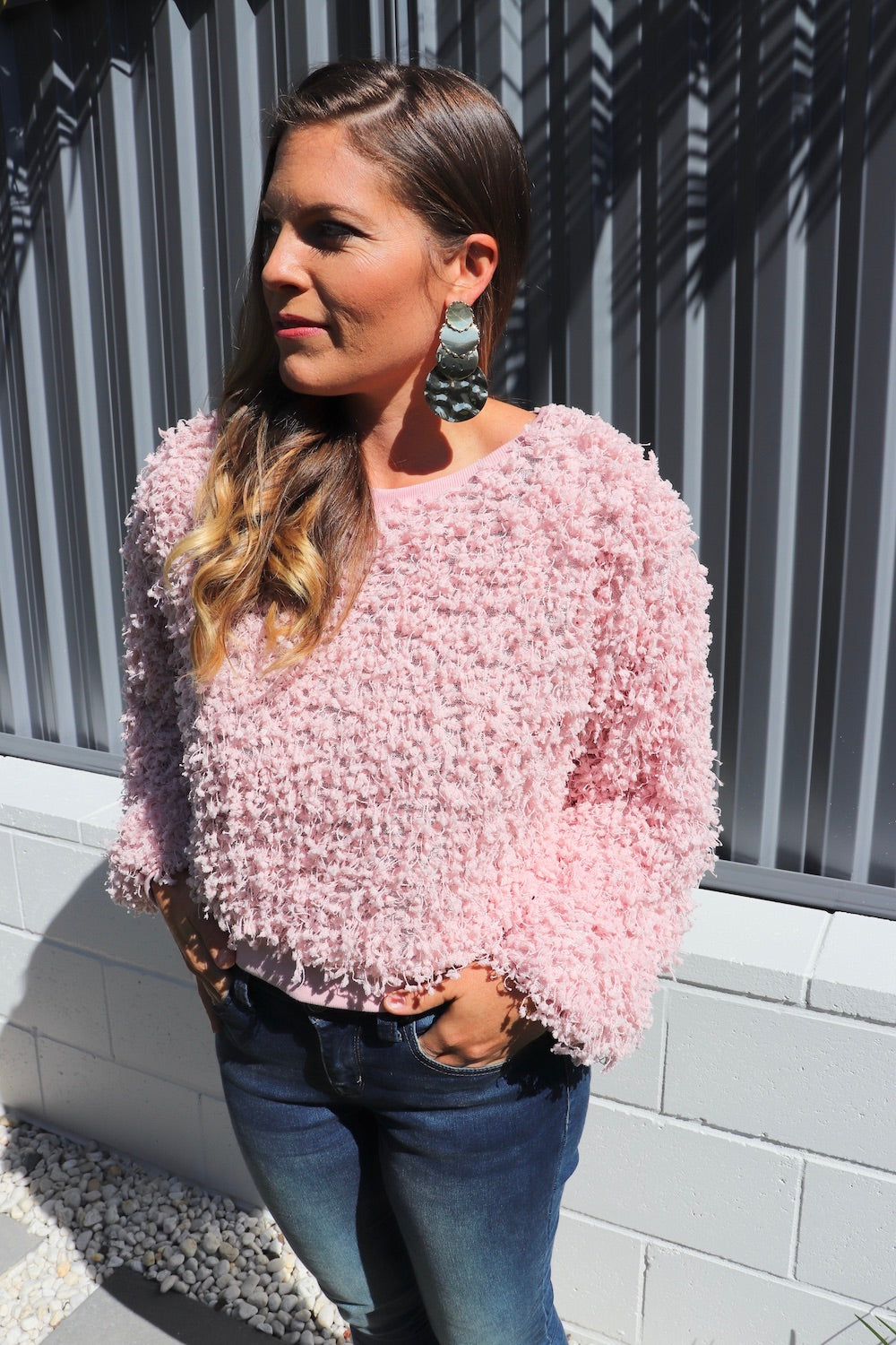 Ruffles In Pink Short Sweater