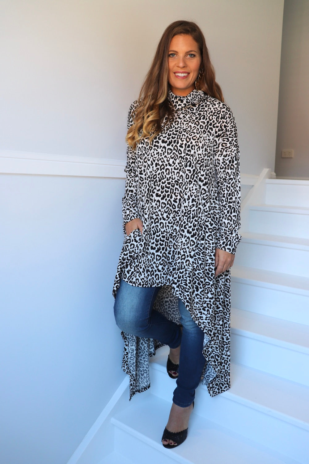 Zanzibar Long Sleeve Cape Top