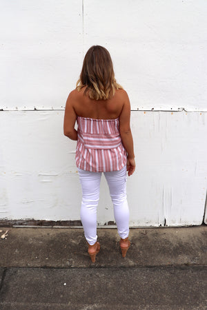 Hope Tube Top In Dusty Pink