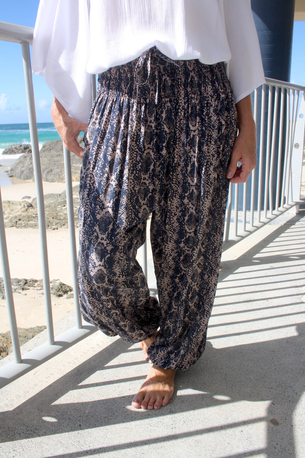 Harem Elastic Long Pant In INK