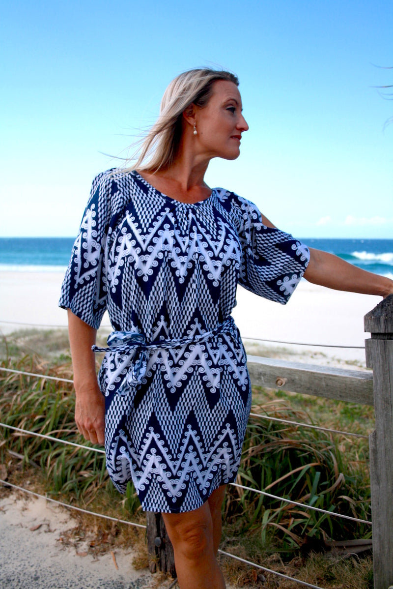 Getaway Dress Blue Islander