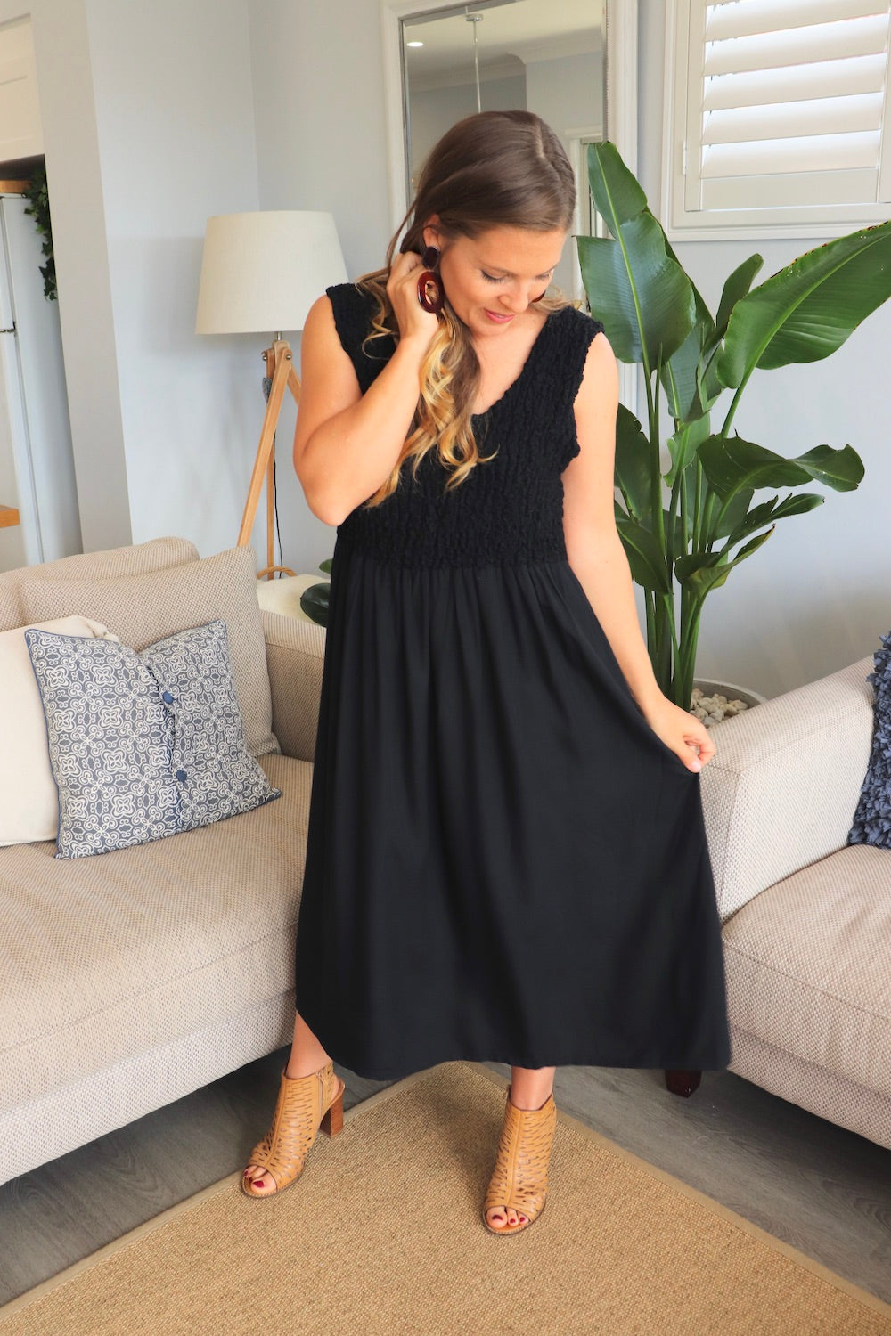 Anastasia Maxi Dress In Black