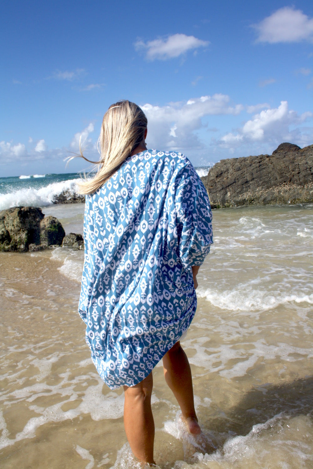 Short Cape In Teal Zanzibar