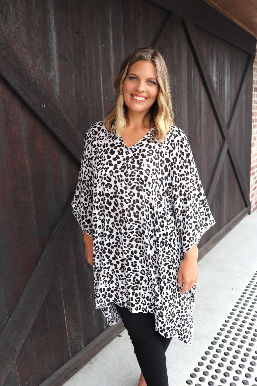 Short Tunic In Black Animal