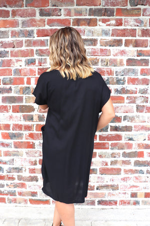 The Hamilton Short Dress In Black