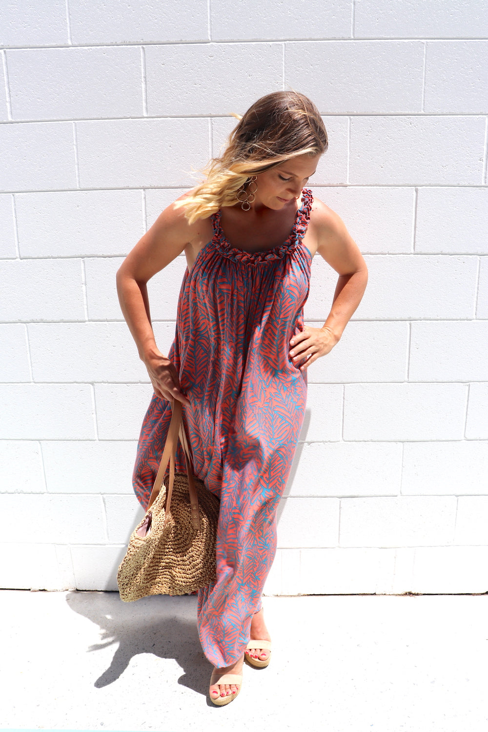 Celine Maxi Dress In Fossil