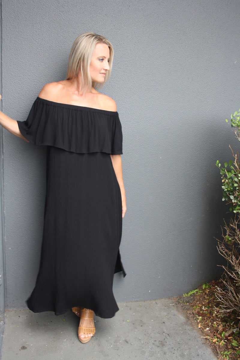 Love The Frill Maxi In Black