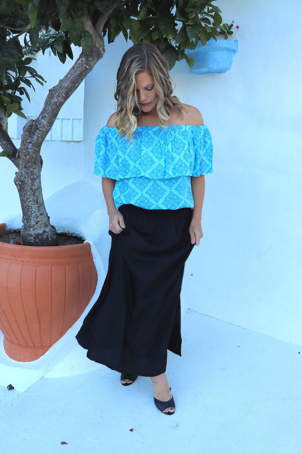RO Merci Maxi Skirt In Black