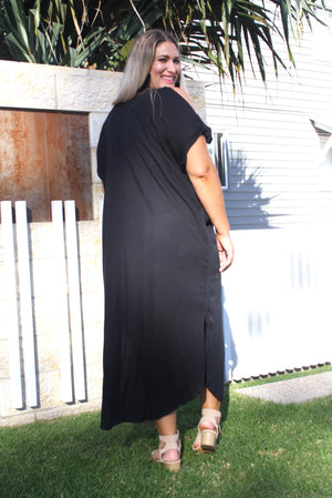 Mai Tai Long Dress In Black