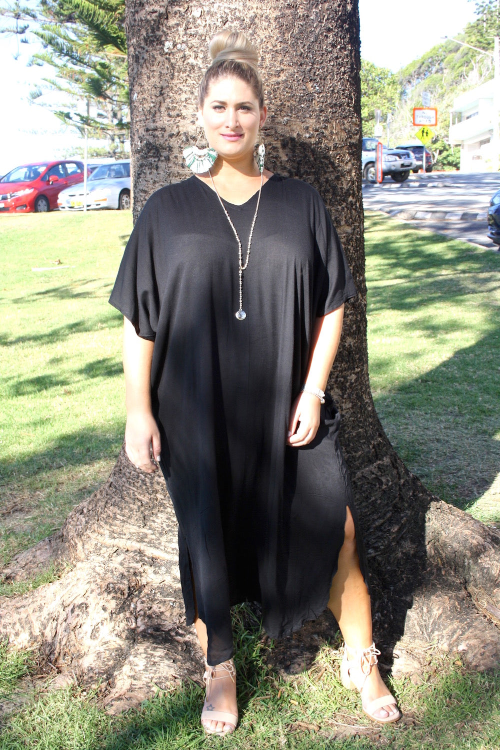 RO Long Kaftan In Black