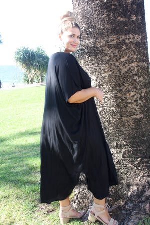 Long Kaftan In Black