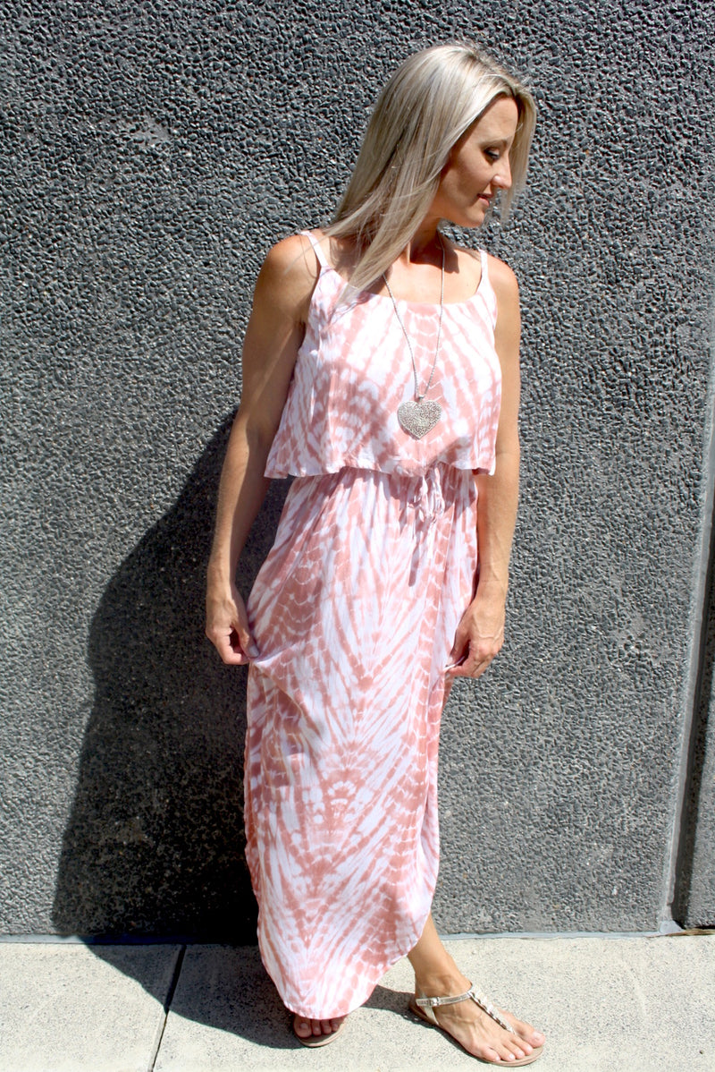 Byron Maxi Dress In Pink Splash