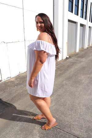 Coolum Short Dress/Top In White