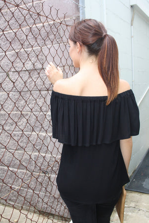 Love The Frill Top In Black