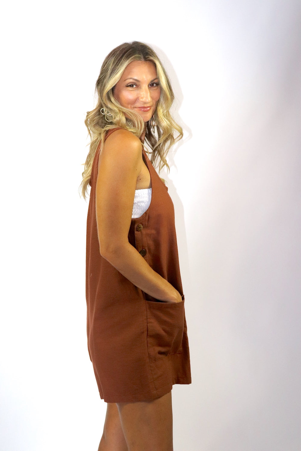 Paris Jumpsuit 100% Cotton in Chocolate