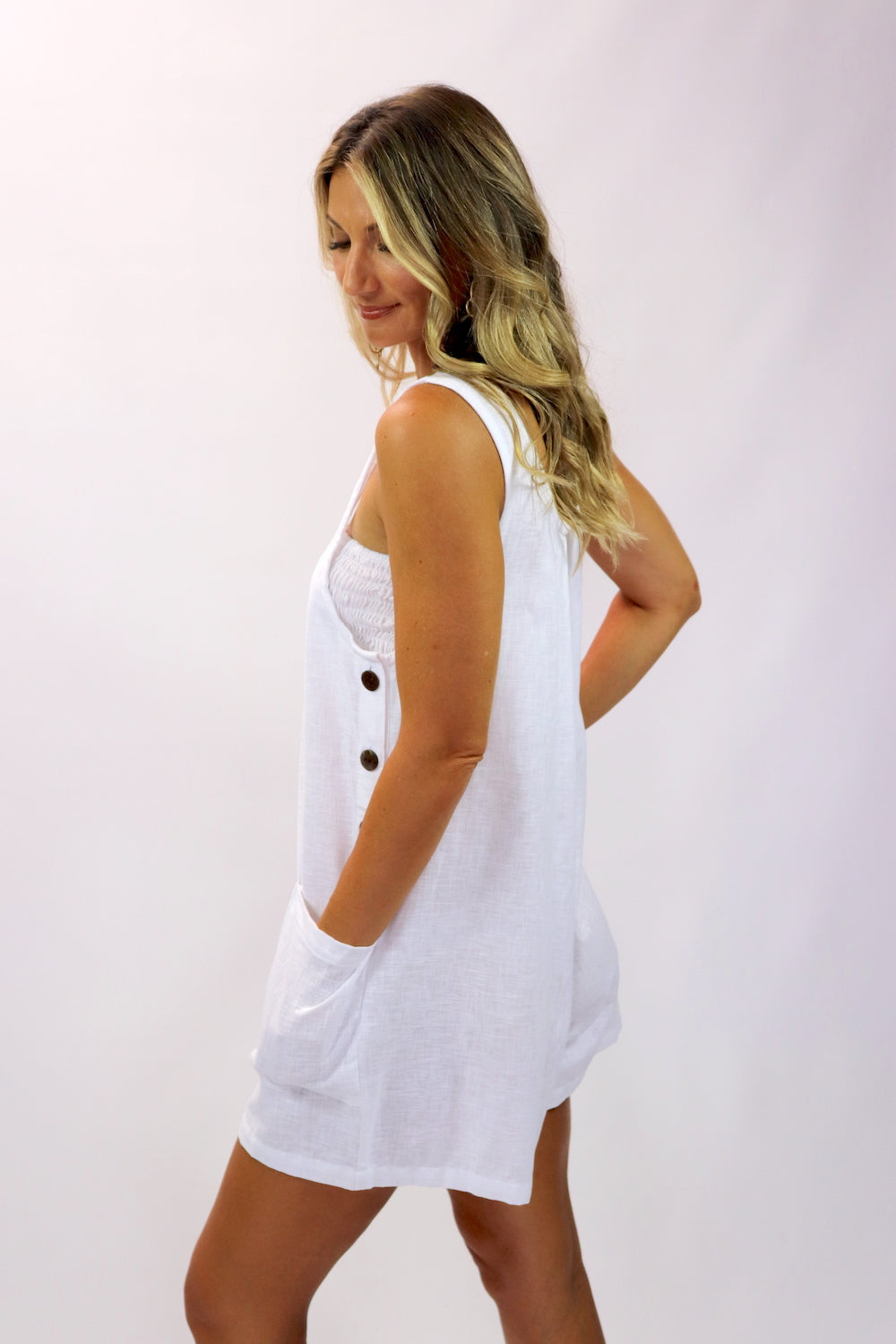 Paris Jumpsuit 100% Cotton in White