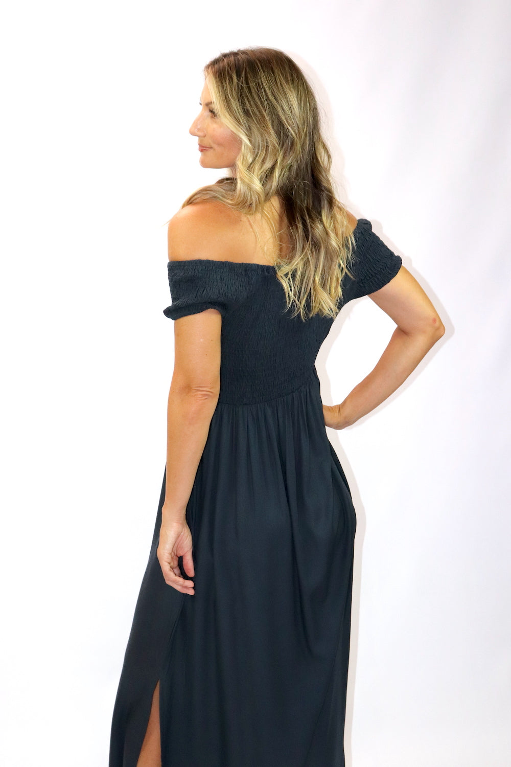 Day Off Maxi Dress In Charcoal