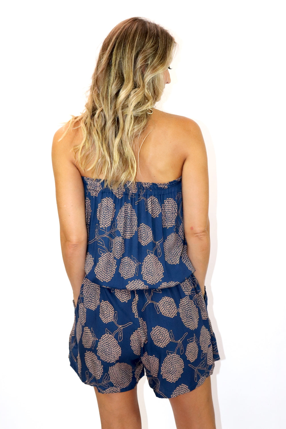 Maldives Short Jumpsuit In Blue Tea