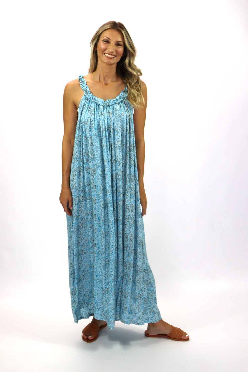 Celine Maxi Dress Sky Blue