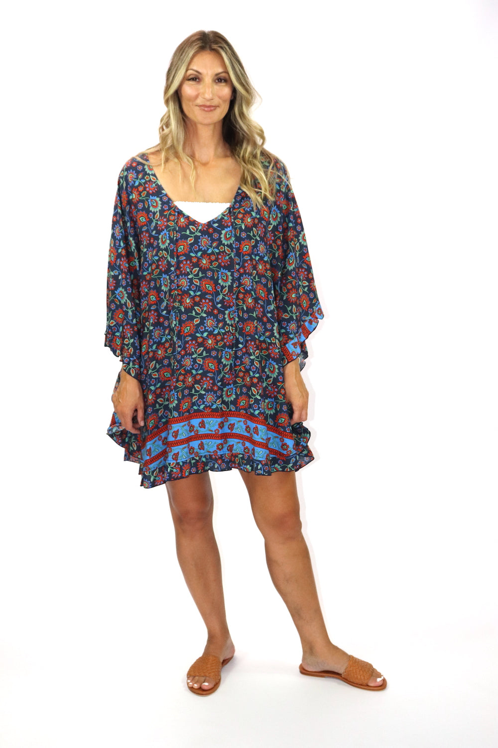Set Free Batwing Top/Dress In Marocco