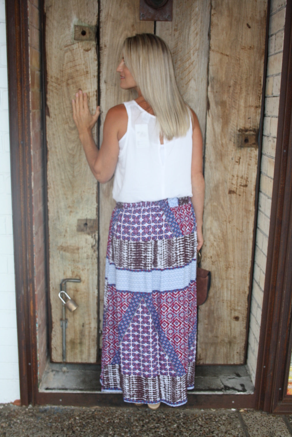 Merci Maxi Skirt - Pink Diamond