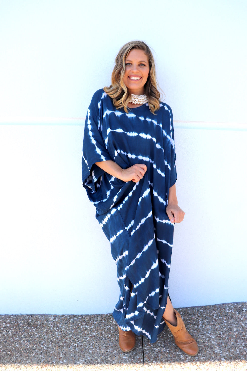 Noosa Blue Long Kaftan