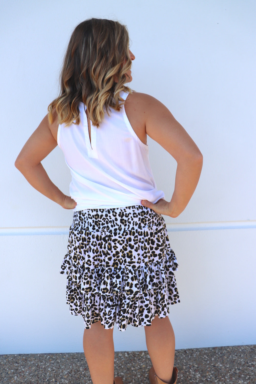 Ripple Effect Skirt In Leopard