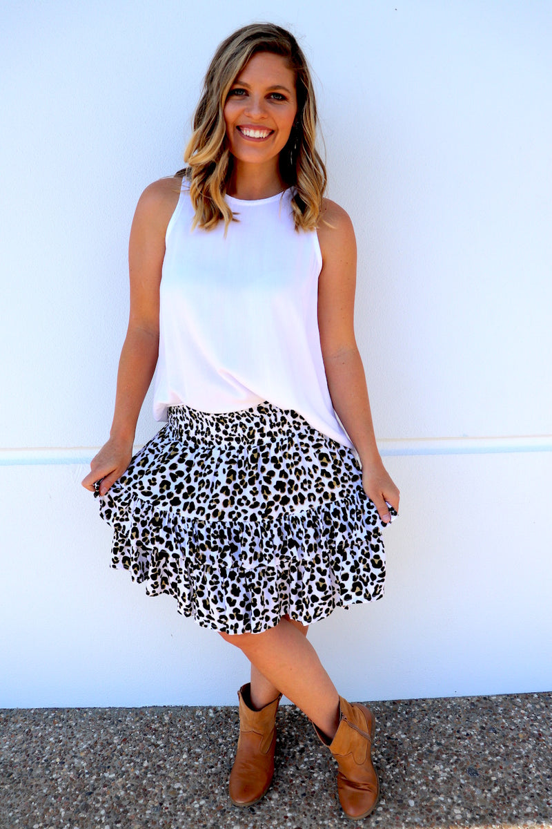 Ripple Effect Mini Skirt In Leopard