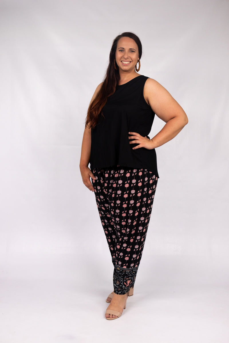 Harem Elastic Long Pant In Garland