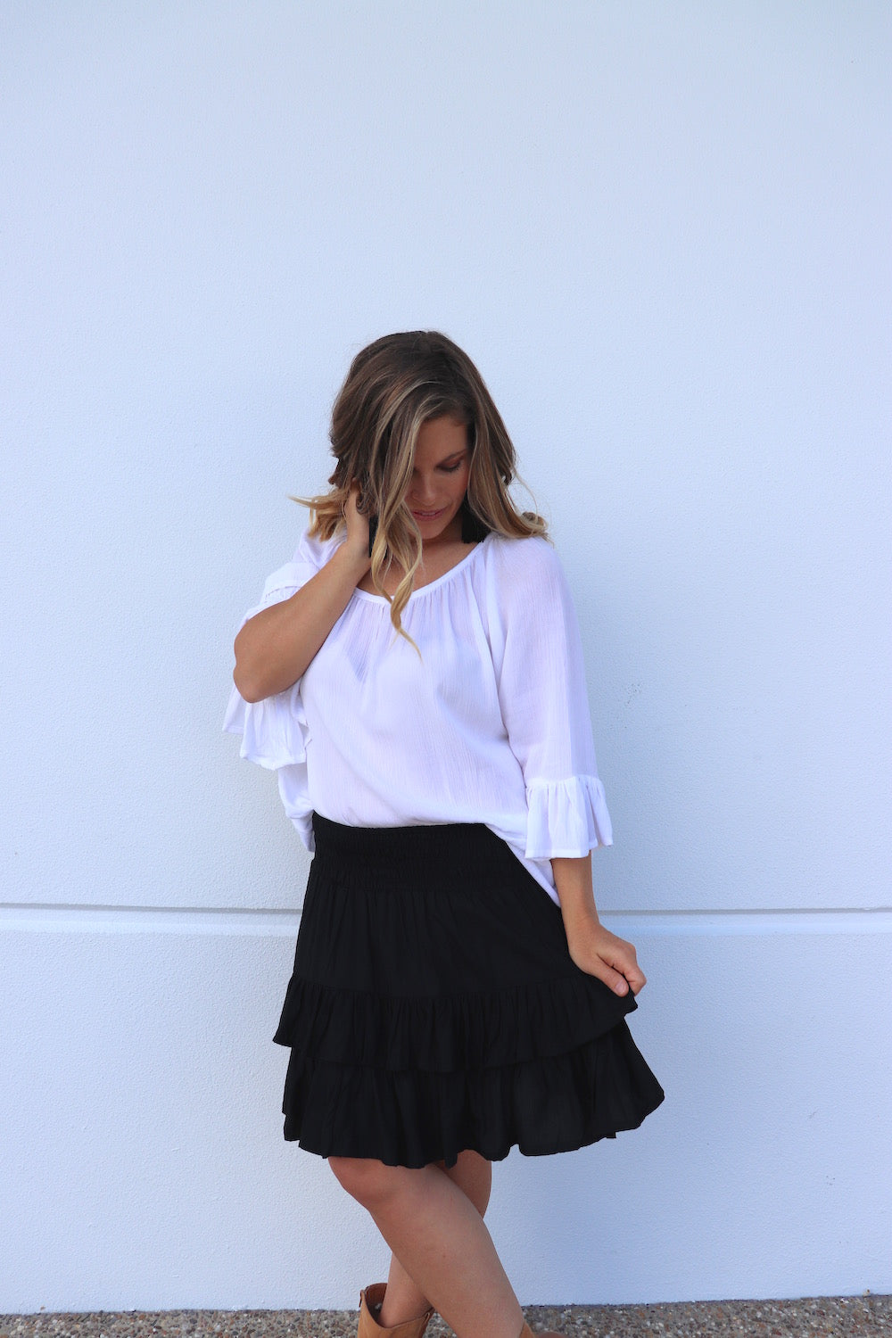 Ripple Effect Skirt In Black