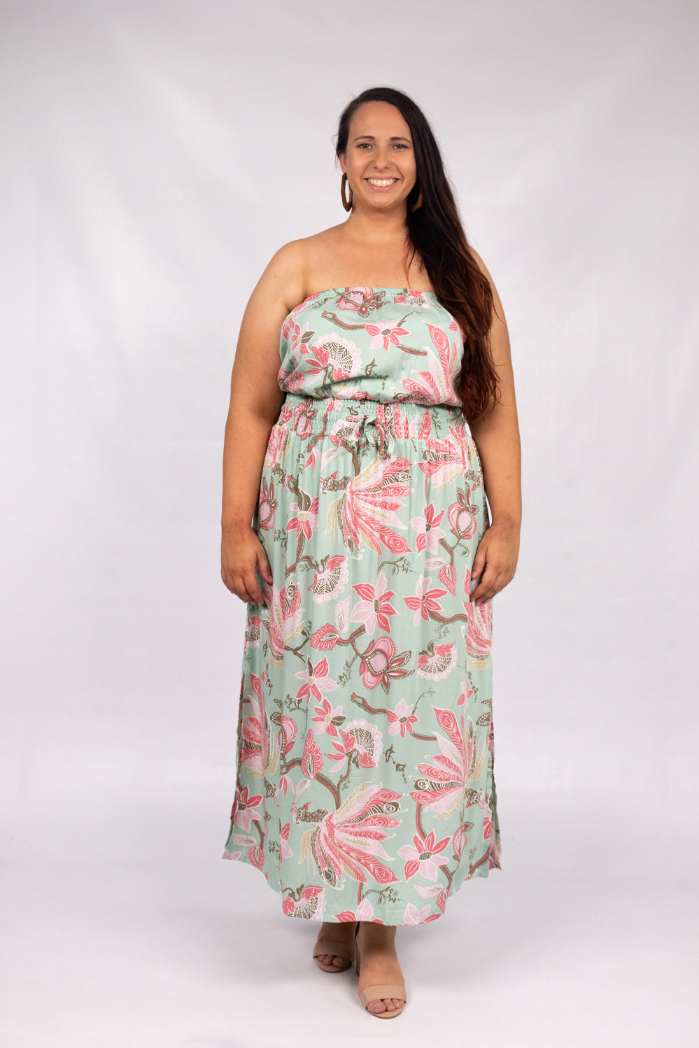 RO Daytripper Tube Maxi Dress In Paradise