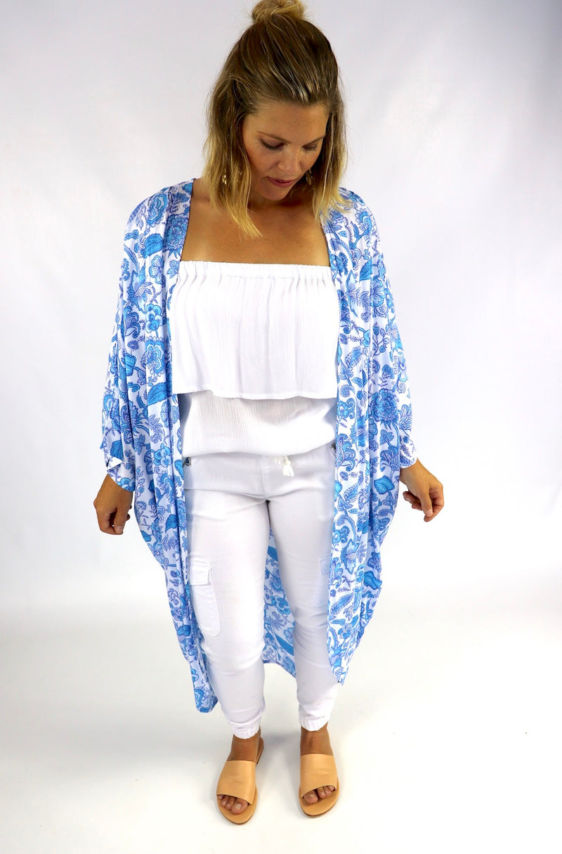 Retro Cape In Bright Blue