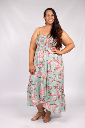RO Florence Strapless Dress In Paradise