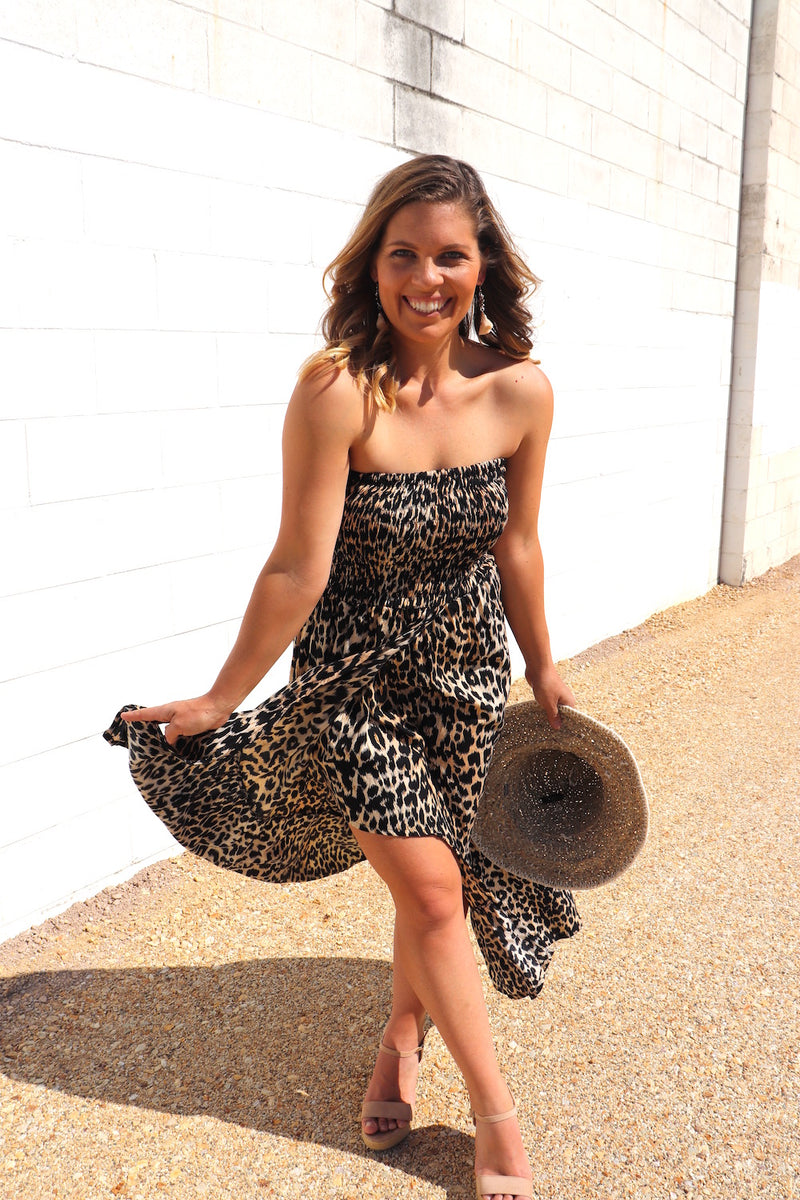 Florence Dress In Leopard