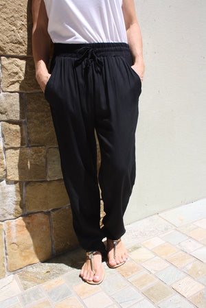 Marina Mirage Elastic Long Pant In Black