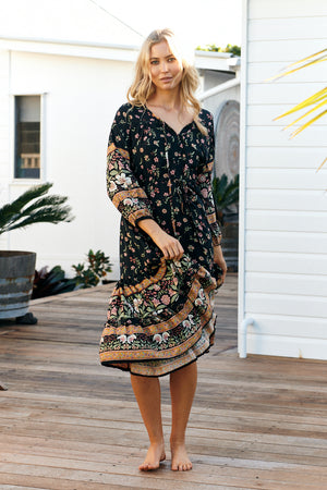 Olli Midi Dress In Eternity Print