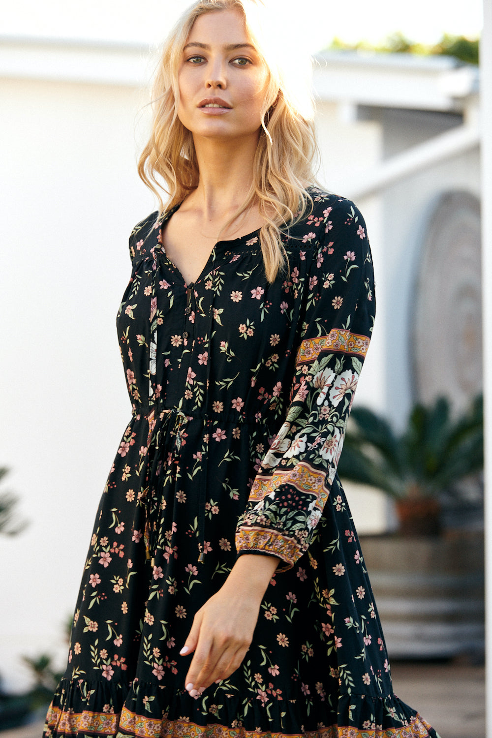 JAASE Olli Midi Dress in Eternity Print