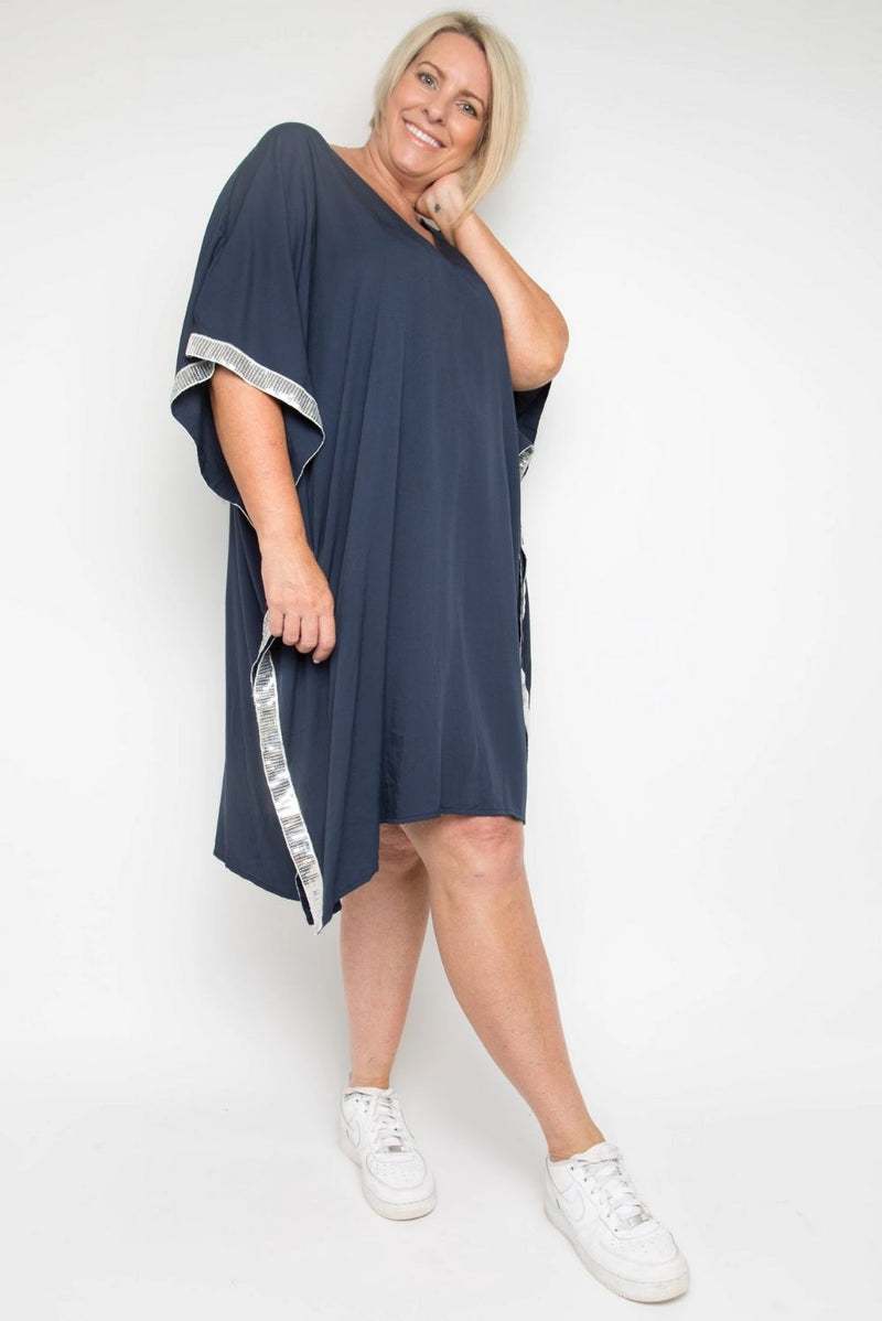 RO Poolside Bling Kaftan - Navy