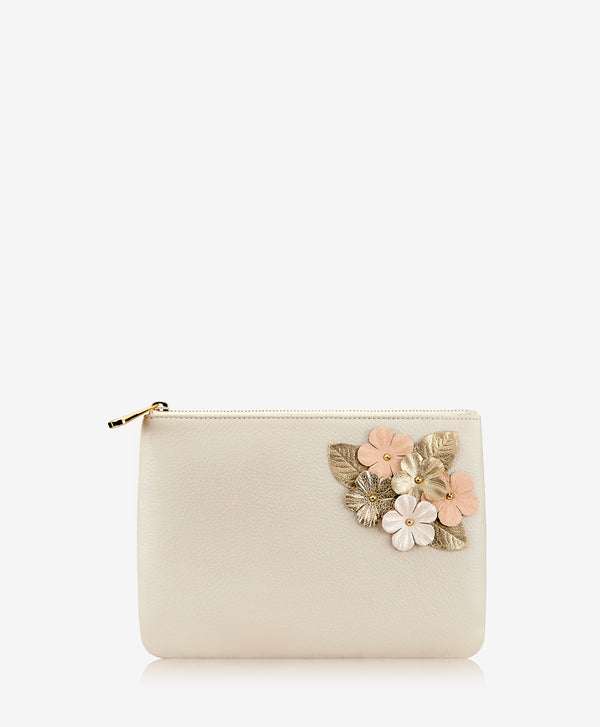 Elie Floral Applique Clutch