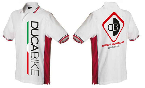 POLO02 - DucaBike Cotton Polo Shirts - Ducabike.com.au