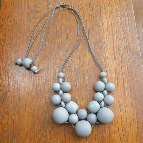 Grey Bubble Ball Necklace