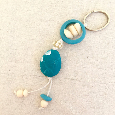 Keyring Teal Cream Mix