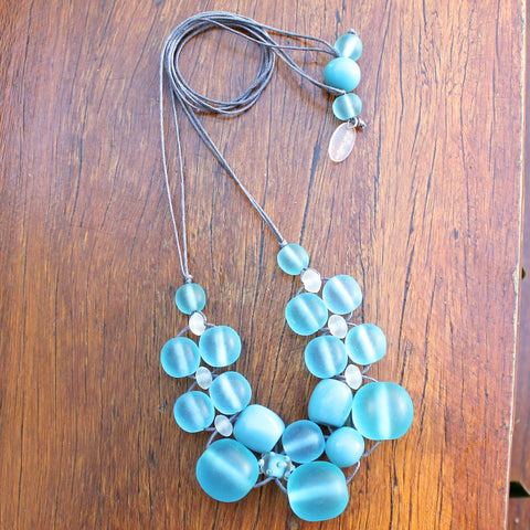 Blue (Light) Bubble Ball Necklace