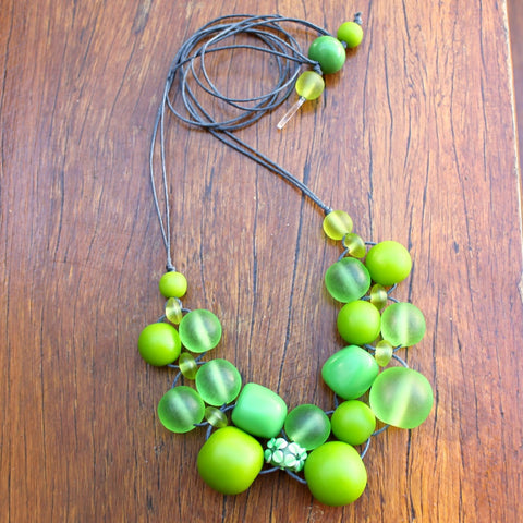 Green Bubble Ball Necklace