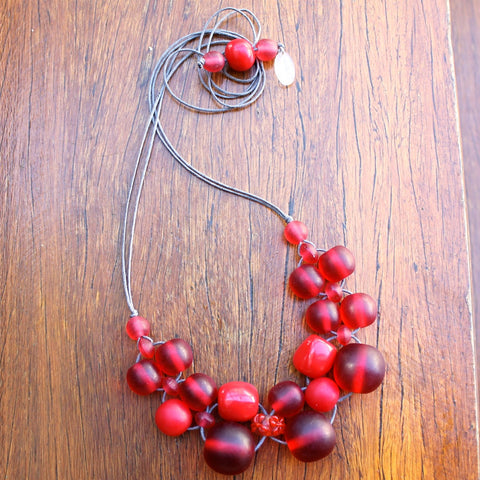 Red Bubble Ball Necklace