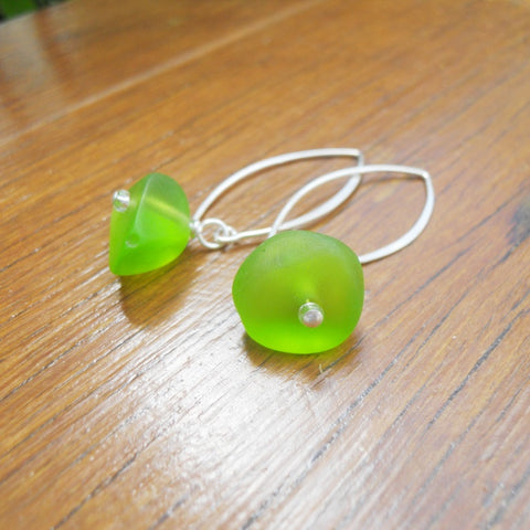 Green (Translucent) Ice Chip Resin Earrings